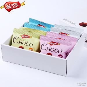 怡浓黑松露形巧克力包装盒跑江湖零食糖果批发休闲零食