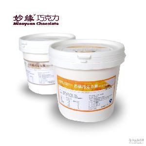 烘焙巧克力酱厂家直供榛子牛奶芒果玫瑰味烘焙软质巧克力酱2kg