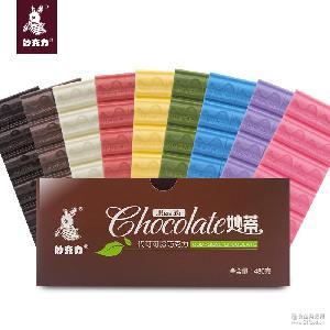 工厂批发diy巧克力原料黑白彩色块 烘焙巧克力480g 烘焙巧克力