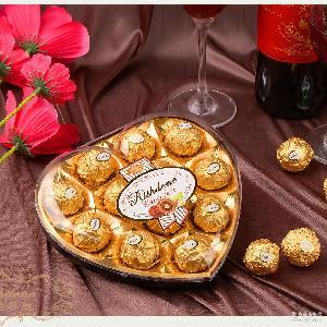 瑞诗丹莲T12心形礼盒结婚喜糖糖果情人节金莎巧克力厂家批发