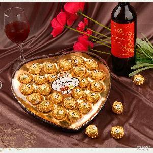 瑞诗丹莲T24爱心礼盒结婚喜糖糖果情人节金莎巧克力厂家批发
