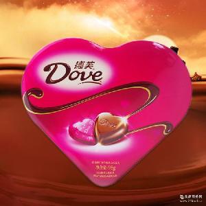 精心制作德芙 德芙心语巧克力98g一盒糖果 精美情侣送礼巧克力