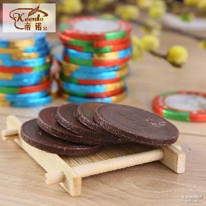 帝诺大筹码金币巧克力500g散装休闲零食婚庆糖果喜糖厂家直销批发