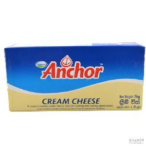 原装进口新西兰Anchor安佳奶油干酪1kg 奶酪 烘焙原料原味芝士