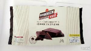 黑巧克力块 梵豪登巧克力砖 梵豪登黑巧克力砖 1kg*10块