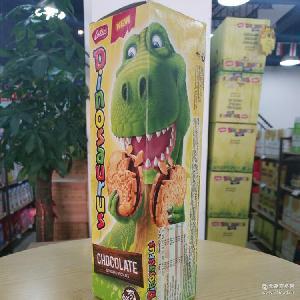 比利时恐龙巧克力饼干261g/盒 休闲零食5.5到期 进口食品批发