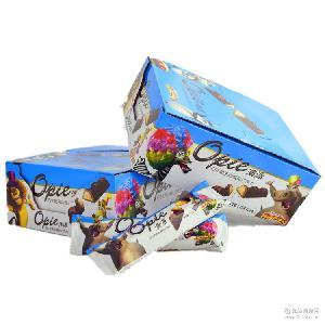 澳派牛奶夹心威化巧克力 下午茶整箱包邮 厂家批发 休闲食品