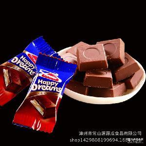 情人节礼物 喜庆休闲糖果 厂家提供 一手货源散装牛奶夹心巧克力
