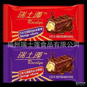 采用进口配方 厂家生产直销巧克力 喜糖休闲食品 巧克力米果涂层