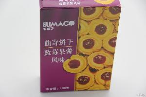 素玛哥牌曲奇(蓝莓果酱风味)进口饼干饼干批发零售