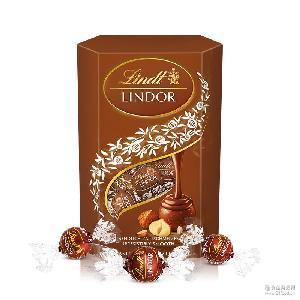 情人节礼物婚庆礼盒品lindt瑞士莲软心榛仁巧克力乐享装500g喜糖