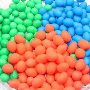 糖果巧克力彩虹糖小橄榄形状巧克力豆蛋糕婚礼七彩小生巧克力豆