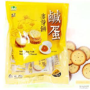 *25/包 批发台湾休闲零食进口昇田咸蛋麦芽饼干夹心脆饼 500g