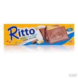 爱芙黄油牛奶巧克力饼干125g盒装*18 马来西亚原装 进口食品