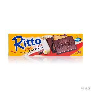 爱芙黄油黑巧克力饼干125g盒装*18 马来西亚原装 进口食品