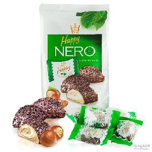 爱芙牛奶榛子浆威化巧克力制品 140g 袋*10 批发 波兰进口Alfredo