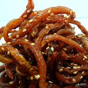 即食海鲜干货 海鱼干即食鳗鱼 休闲海鲜零食小鳗鱼干 香辣鳗鱼丝