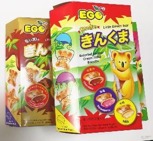 EGO金小熊灌心饼250g 散装进口零食 ego小熊饼 马来西亚进口饼干