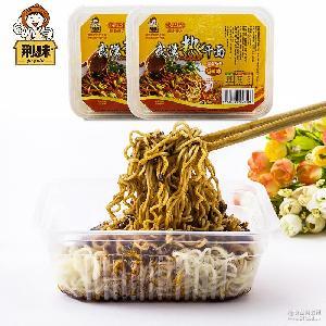 美味武汉名小吃食品 厂家直销 湖北特产武汉热干面牛肉味268克