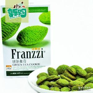 法丽兹曲奇饼干102g/盒抹茶海苔香梅原味盒装休闲零食批发 丰熙