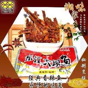 500g散装东江糖果鱼 短条东江香辣鱼 湖南特产年年有厂家批发