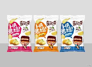 喜多兄弟70g大包装烤土豆好友分享休闲膨化零食松脆薯片厂家直销