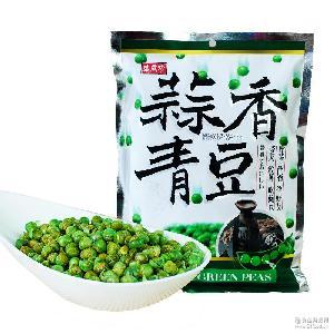 台湾进口食品批发 盛香珍蒜香青豆小包装干果炒货240g