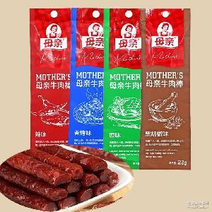 养生堂母亲牛肉棒22g*12支/袋 休闲风干牛肉条块零食品批发 热销