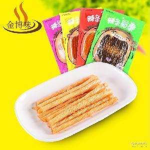 辣条面筋豆腐干学生食品批发腐竹 脆皮香豆干甜辣小鲜肉休闲零食