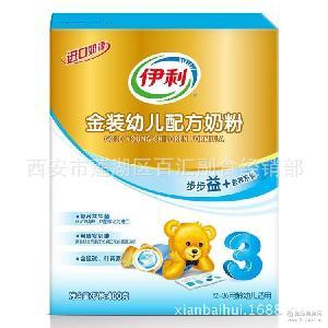 400g盒3段(金盒伊利3) 伊利 西安百汇 金装幼儿配方奶粉