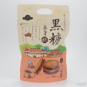 黑糖咸蛋黄早餐代餐饼干食品零食批发 台湾好祺麦芽夹心饼干208g