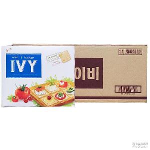 270g*12 早餐点心 海太IVY低糖饼干 苏打饼干 韩国进口