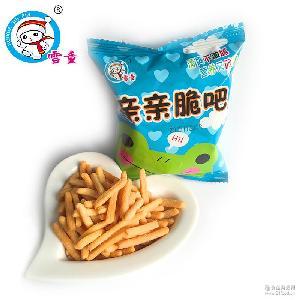 休闲食品膨化食品雪童咪咪虾条 健康小零食批发包邮 零食