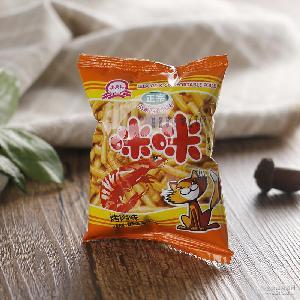 膨化休闲食品 零食称重批发 李荣记咪咪虾条