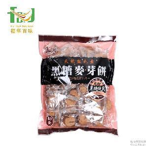 台湾原装进口 良浩黑糖夹心麦芽饼干1斤/袋装 500g零食特价批发