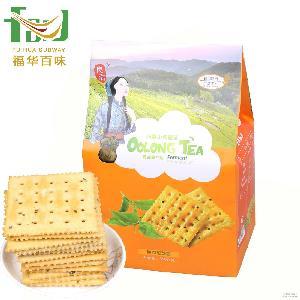 绿红茶酵素无糖苏打饼干350g/包 良浩茶酵素饼干 台湾新进口