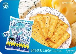 中祥食品 鲜奶油起士饼干 台湾进口 休闲零食360g台湾进口饼干