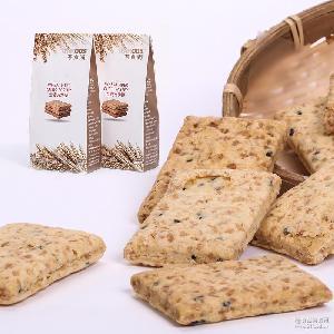 茶食尚-全麦方块酥燕麦饼干粗粮代餐低零食品茶点茶食品厂家批发