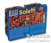 效期至今年十月 介意日期慎拍 奥地利Soletti索迪脆棒饼干双享装