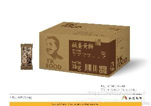 休闲零食批发3000g 台湾知名进口食品 特产老杨咸蛋黄饼原味饼干
