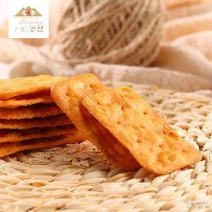 进口特产台湾食品 热销包装竹筍饼招代理 咸味膳食纤维薄脆饼干