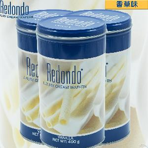 威化卷心酥香草味redondo注心饼干棒下午茶休闲零食小吃饼干