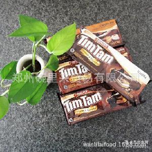 一手货源 手续齐全 印尼原装进口雅乐思TimTam卡布奇诺巧克力饼干