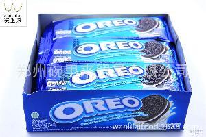 原装进口奥利奥香草三明治口味 夹心巧克力饼干 亿滋 一手货源