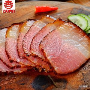 四川特产柴火烟熏腌腊肉农家自制香柏枝250g培根味 吉欣 包邮