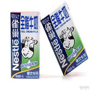 西点奶茶烘焙原料 雀巢牛奶纯牛奶1L*12盒 批发雀巢全脂牛奶1L