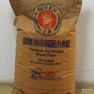 小麦面粉25KG面包烘焙原料 加拿大王后品牌高筋粉 面包粉进口原料
