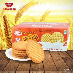顺兴优质牛奶香脆饼干休闲零食早餐饼整箱批发 支持贴牌 一件代发