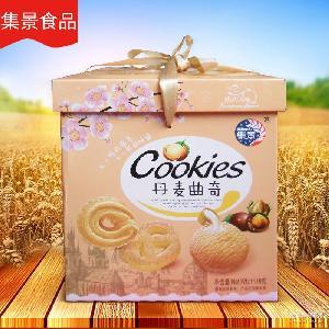 丹麦曲奇风味饼干批发 1118G丹麦曲奇黄色盒装饼干 厂家生产