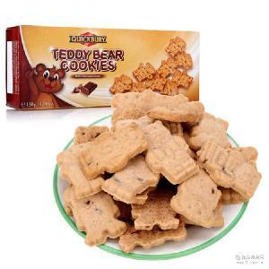 德国进口捷百瑞泰迪熊曲奇巧克力饼干130g*16盒 大量现货批发 箱